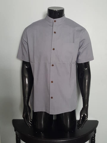 Half sleeve Linen and Cotton Round neck Shirt for Men