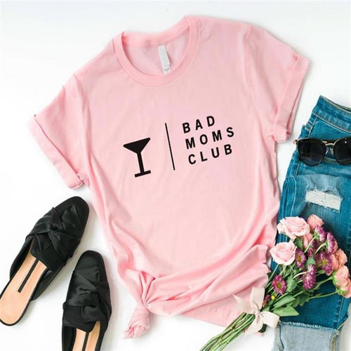 BAD MOMS CLUB T-SHIRT | PINK