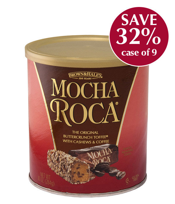 10 oz MOCHA ROCA Canister - Case of 9 Canisters