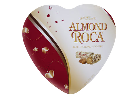 7.75 oz ALMOND ROCA Heart Tin