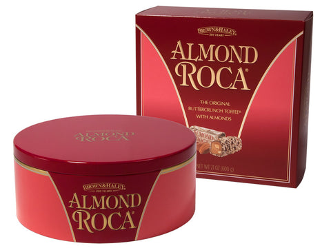 21 oz ALMOND ROCA Tin in Gift Box