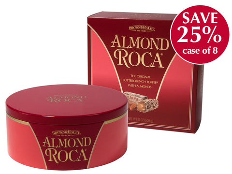 21oz ALMOND ROCA Tin in Gift Box - Case of 8 Boxes