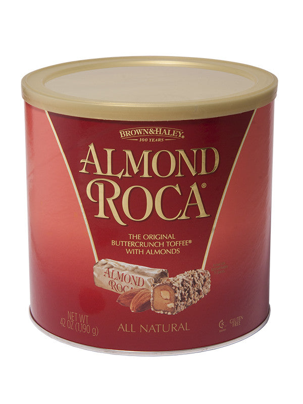 42 oz ALMOND ROCA Canister | Brown-Haley