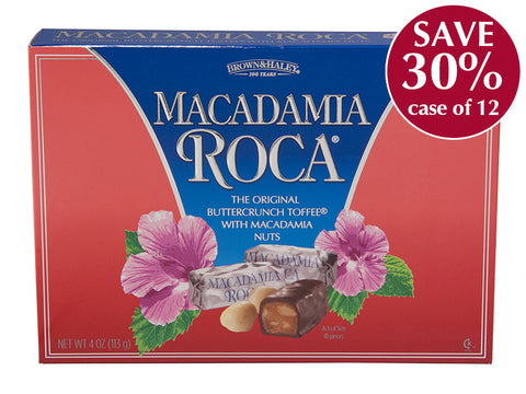 4 oz MACADAMIA ROCA Box - Case of 12 Boxes