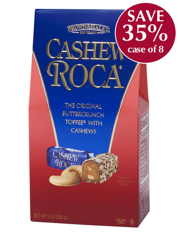 5 oz CASHEW ROCA Stand-up Box - Case of 8 boxes