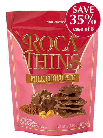 5.3 oz Milk Chocolate ROCA THINS - Case of 8 Pouches