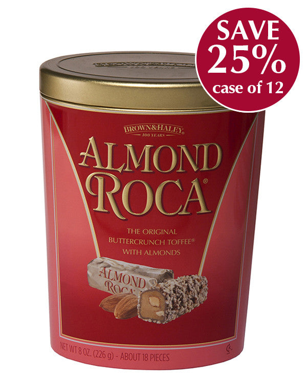 8 oz ALMOND ROCA Oval Tin - Case of 12 Tins