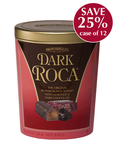 8 oz DARK ROCA Oval Tin - Case of 12 Tins