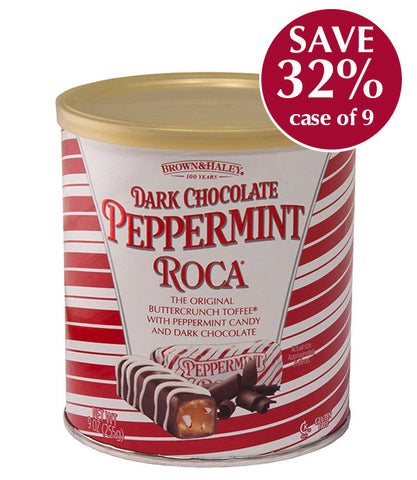 9 oz PEPPERMINT ROCA Canister - Case of 9 Canisters