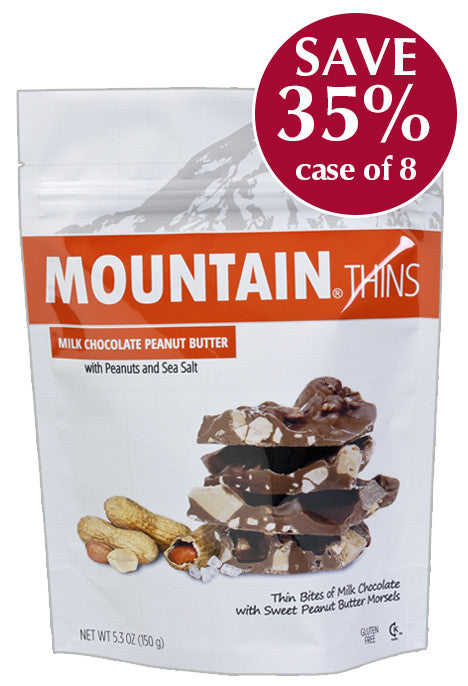 5.3 oz Peanut Butter MOUNTAIN THINS - Case of 8 Pouches