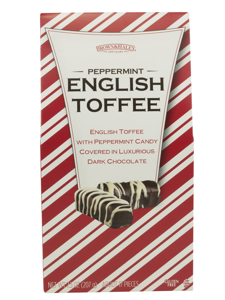7.3 oz PEPPERMINT ENGLISH TOFFEE Stand-up Box - Case of 12 Boxes