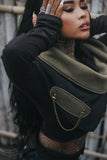 Oya Collection - Snood w/ Brass Detail - Black