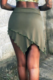 Kirigami Skirt - Smokey Green