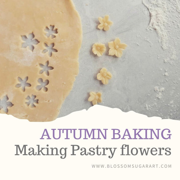 autumn pie pastry flowers fall baking