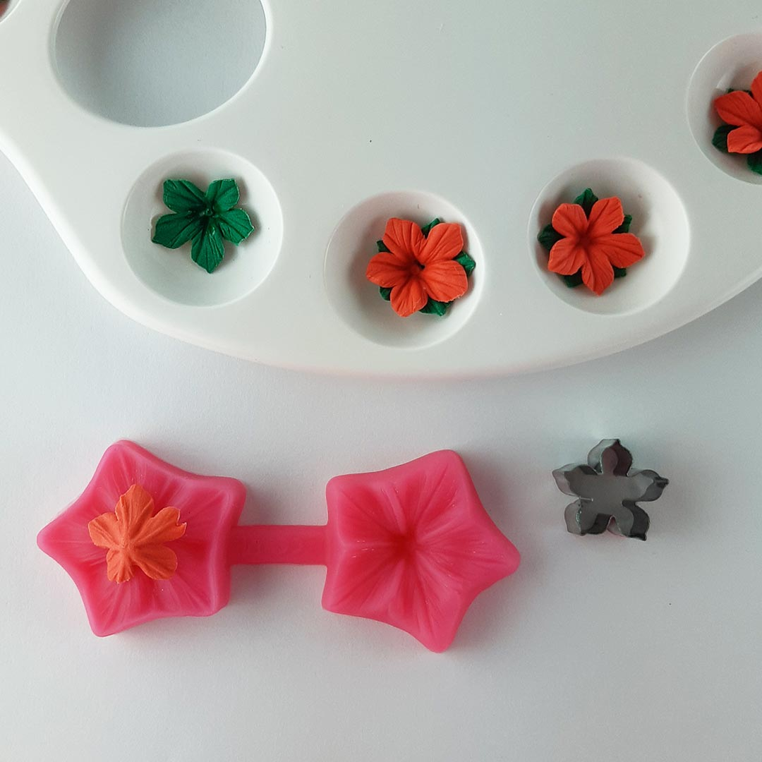 making small flowers step 2
