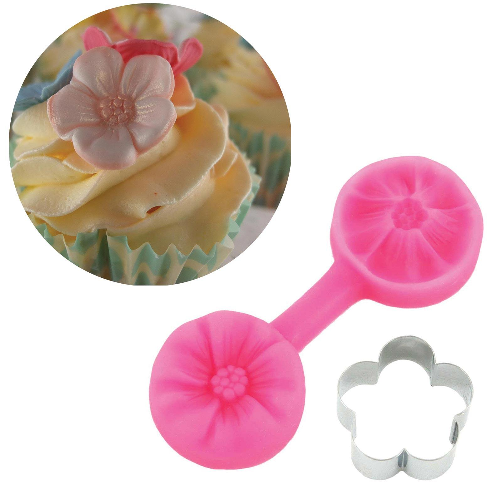 Cherry Blossom Cutter & Mould Set - Blossom Sugar Art cake_decorating_mold craft_mold icing_flowers
