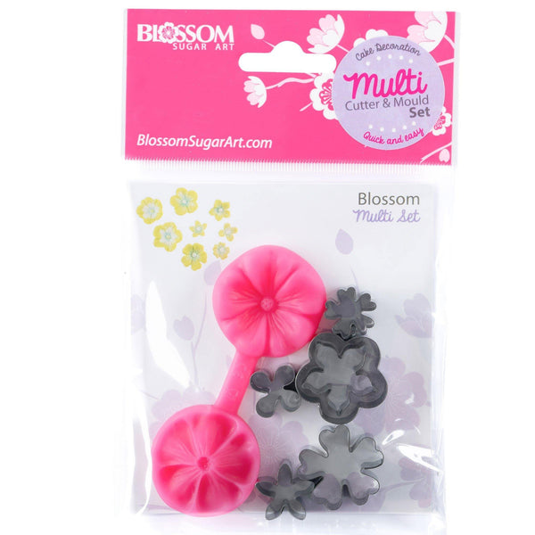 Blossom Fondant Flowers Cutter and Mould Multi Set - Blossom Sugar Art cake_decorating_mold craft_mold icing_flowers