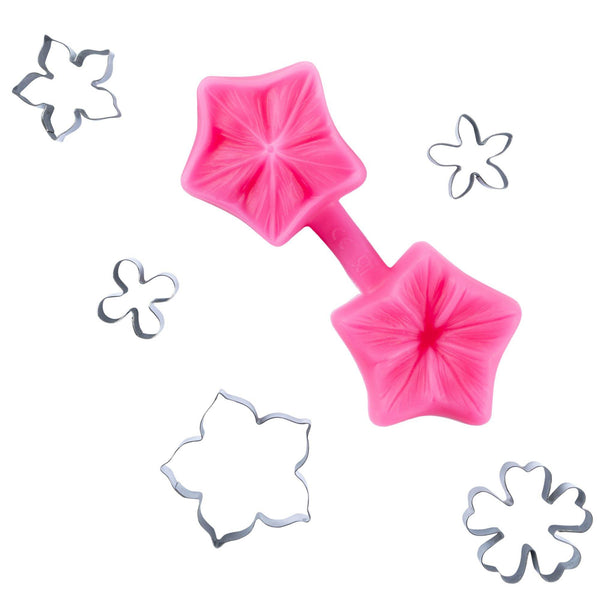 Petunia Fondant Flowers Cutter and Mould Multi Set - Blossom Sugar Art