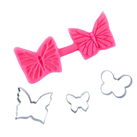 Butterfly Cutters and Mould Multi Set - Blossom Sugar Art cake_decorating_mold craft_mold icing_flowers