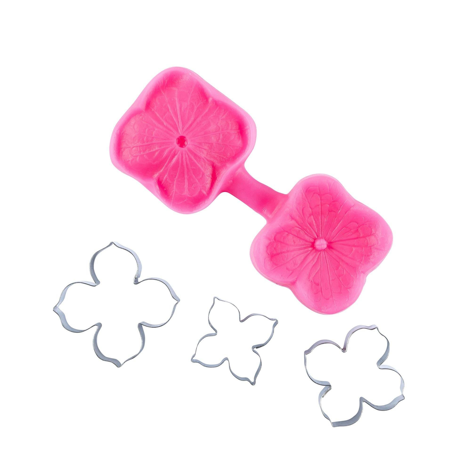 Hydrangea Fondant Flowers Cutter and Mould Multi Set - Blossom Sugar Art