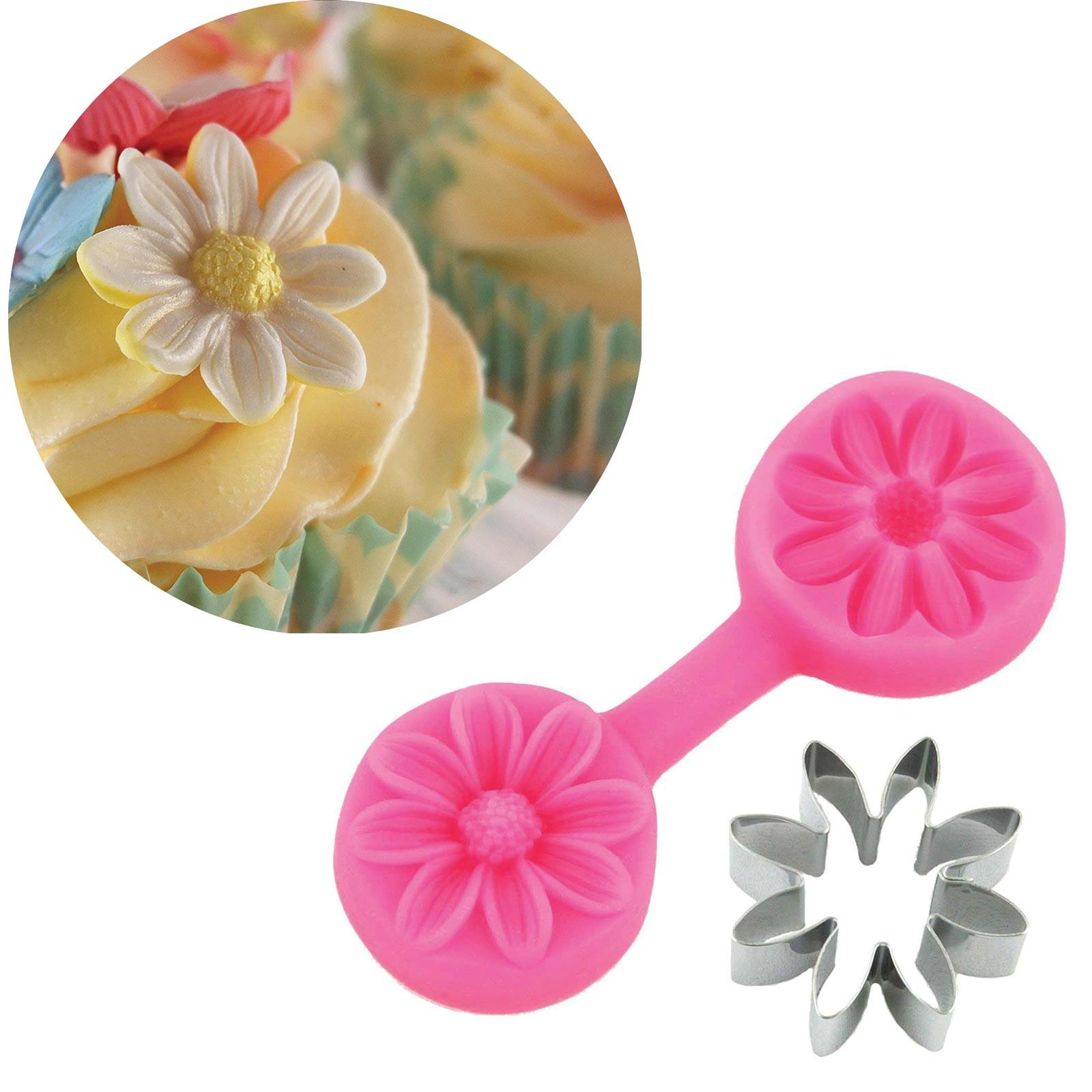 Daisy Cutter & Mould Set - Blossom Sugar Art cake_decorating_mold craft_mold icing_flowers