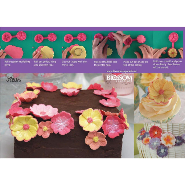 Fleur Cutter & Mould Set - Blossom Sugar Art cake_decorating_mold craft_mold icing_flowers