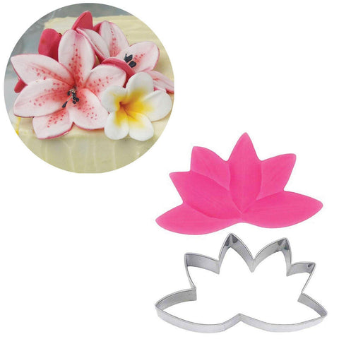 Lily Cutter & Mould Set - Blossom Sugar Art cake_decorating_mold craft_mold icing_flowers