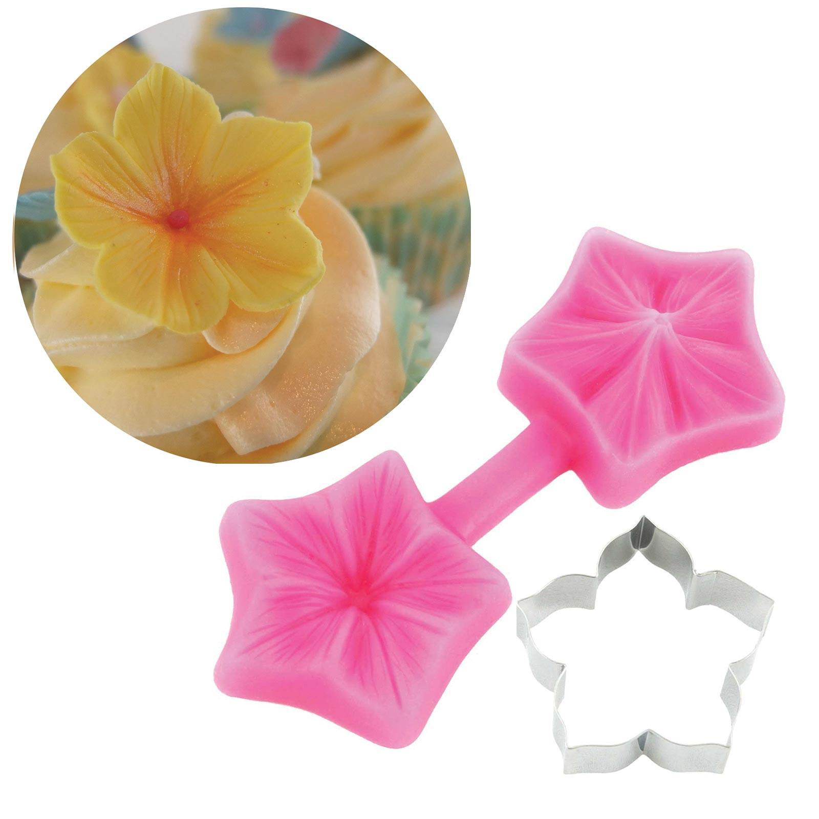 Petunia Cutter & Mould Set - Blossom Sugar Art cake_decorating_mold craft_mold icing_flowers