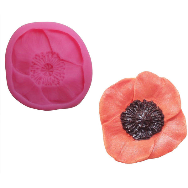 Poppy Mould - Blossom Sugar Art cake_decorating_mold craft_mold icing_flowers