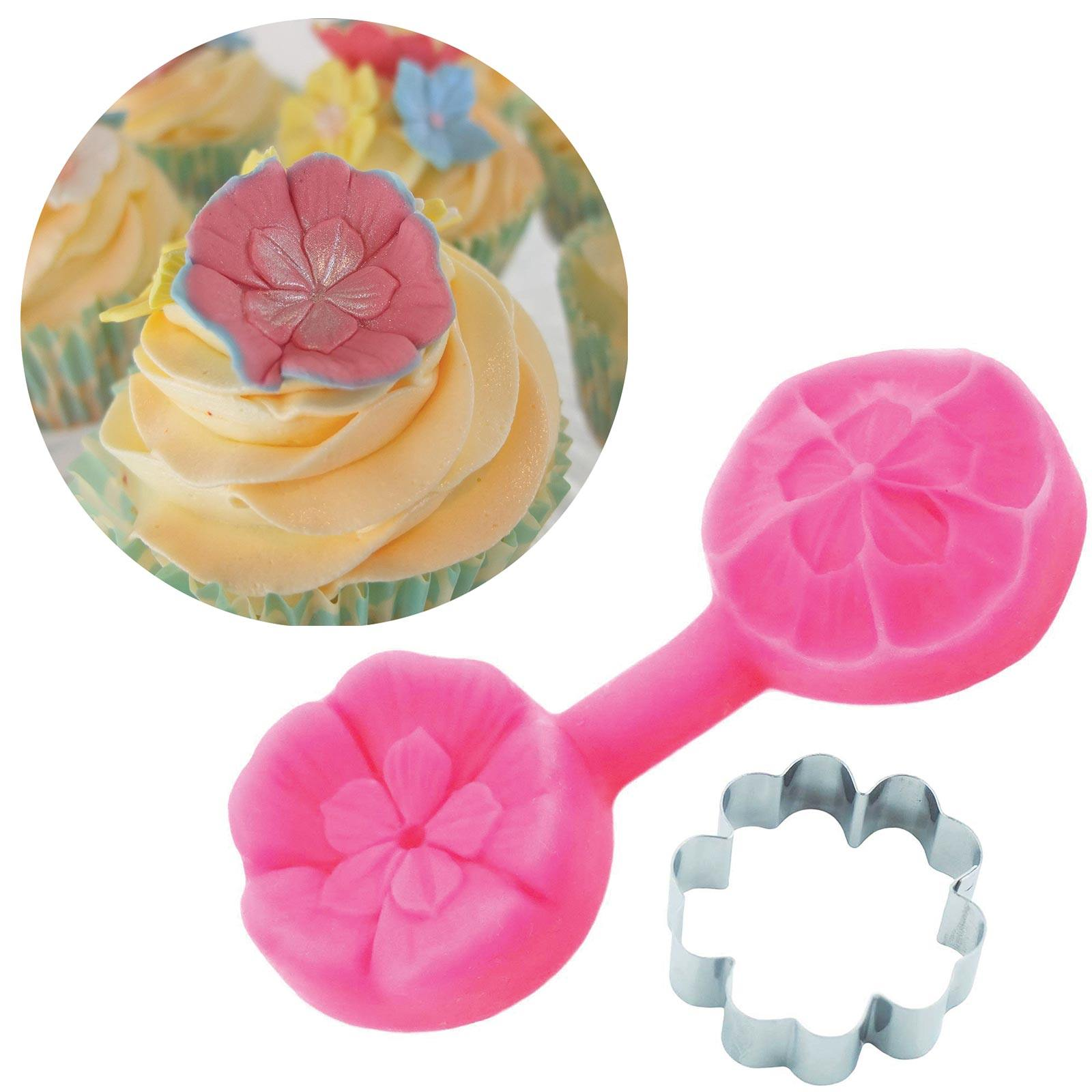 Primula Cutter & Mould Set - Blossom Sugar Art cake_decorating_mold craft_mold icing_flowers