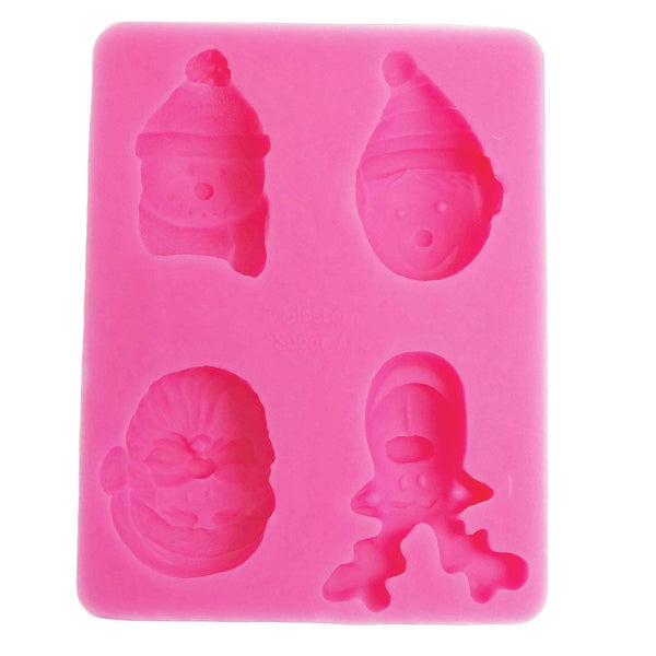 Christmas Faces Mould - Blossom Sugar Art cake_decorating_mold craft_mold icing_flowers