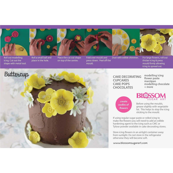 Buttercup Multi Set - Blossom Sugar Art cake_decorating_mold craft_mold icing_flowers