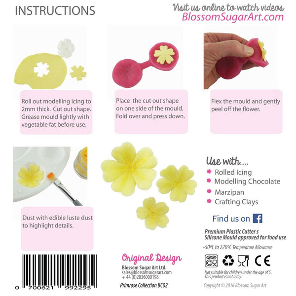 Primrose Collection - Blossom Sugar Art cake_decorating_mold craft_mold icing_flowers