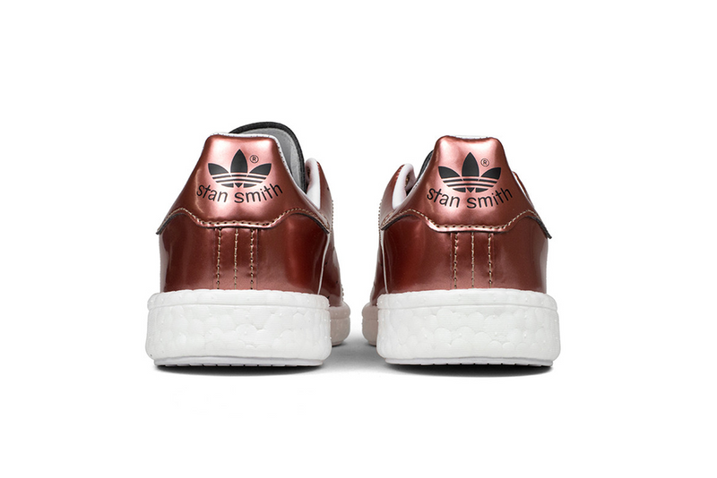 WMNS Adidas Stan Smith Boost Metallic Copper Sneaker großer