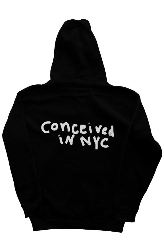 CONCEIVED IN NYC HOODIE BLACK