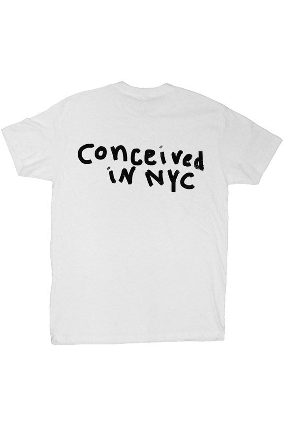 CONCEIVED IN NYC TEE WHITE