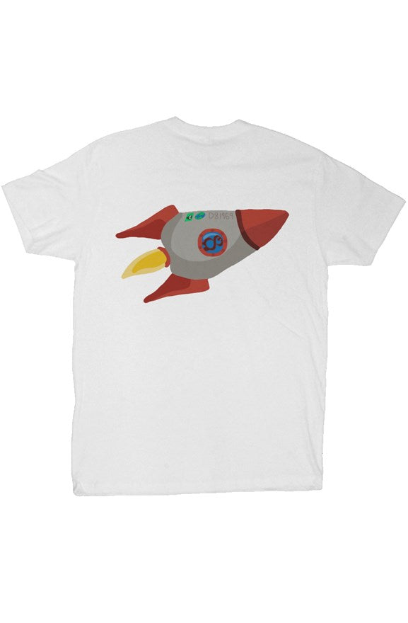 LIMITED LAUNCH ROCKET TEE WHITE