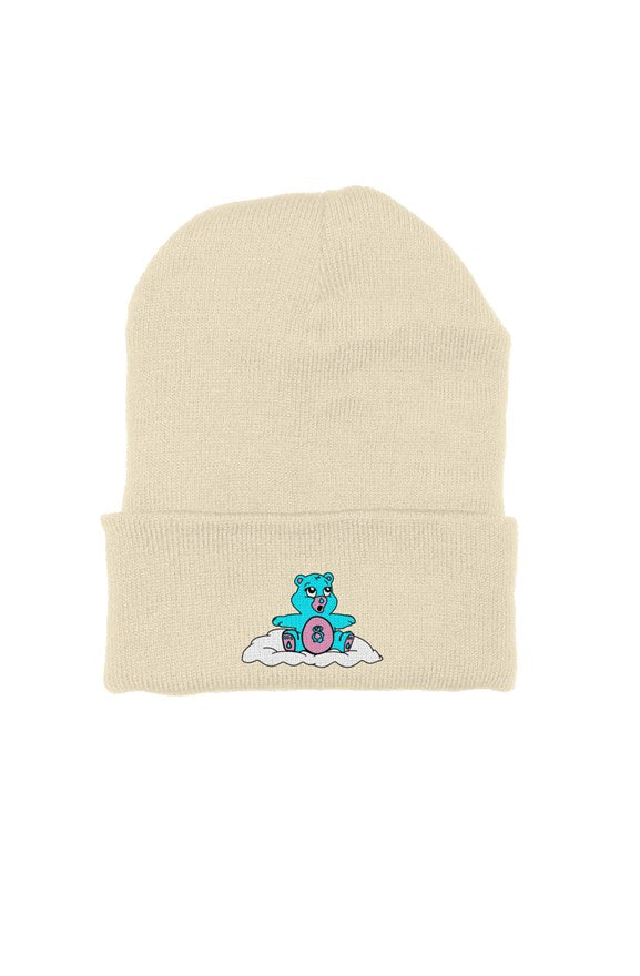 worried bear beanie