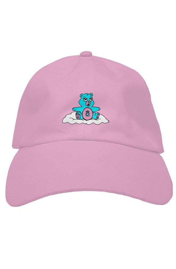 embroidered worried bear dad hat