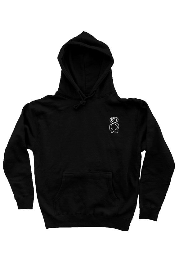 dripping 8 black heavyweight hoodie