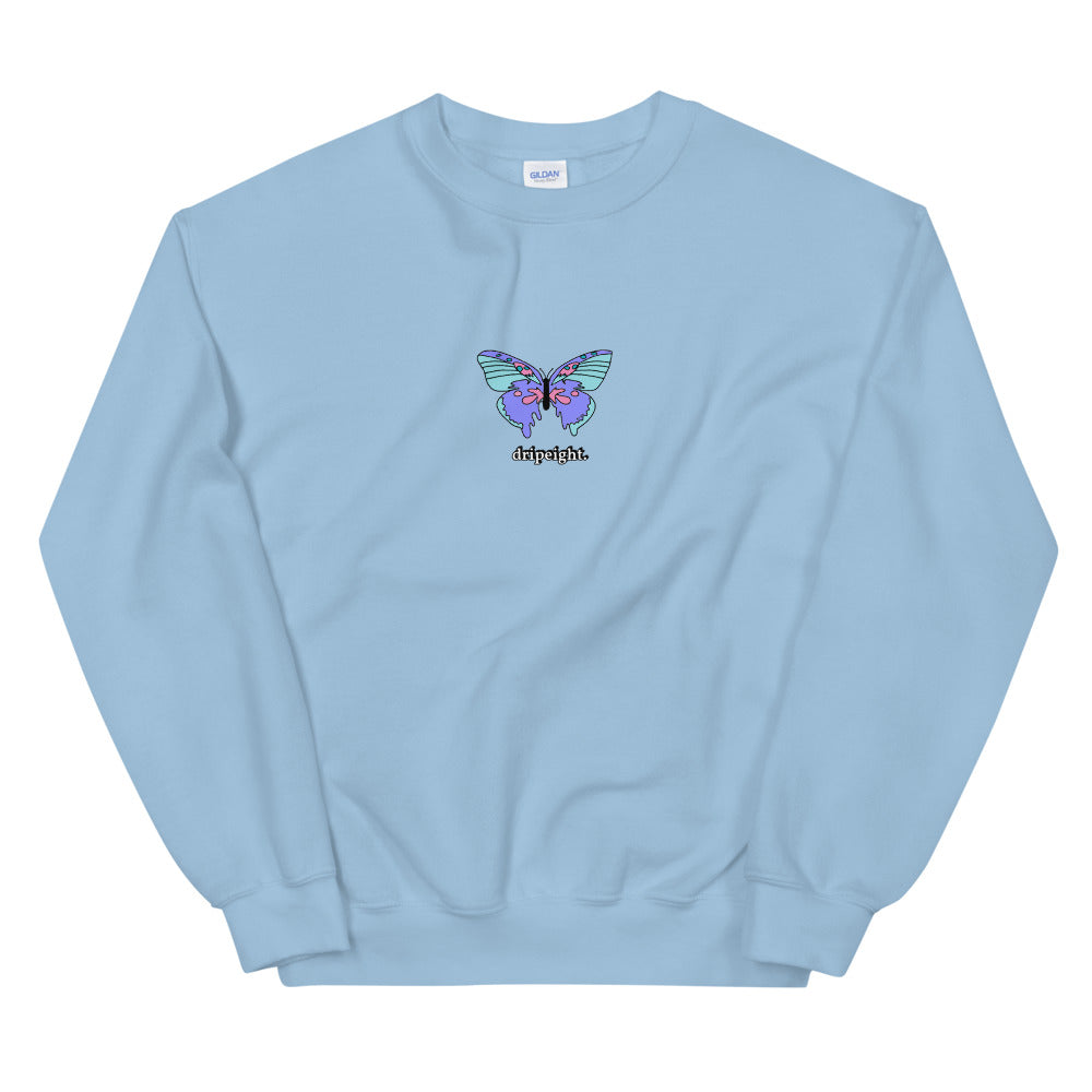 dripping butterfly unisex crewneck