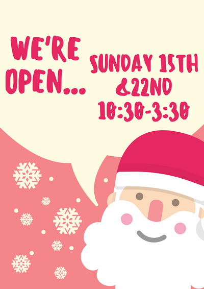 Open Next Two Sundays!