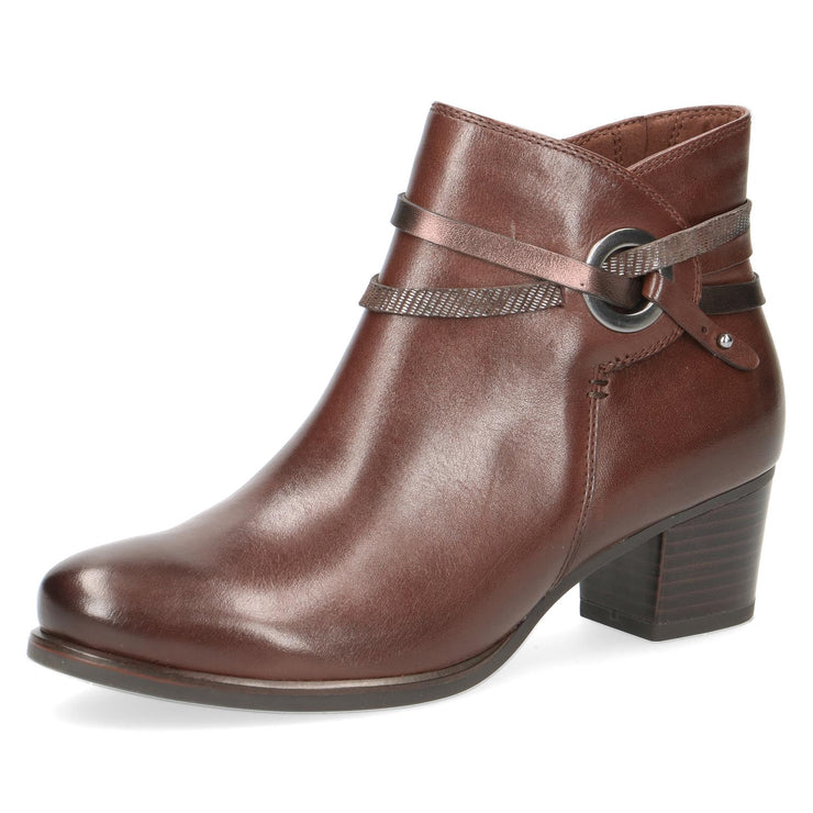 Caprice, Matilda, dark brown leather ankle boot