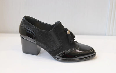 HB, Charol Negro, black low heel shoes