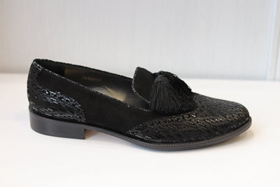 HB, Carolina negro, black slip on shoes