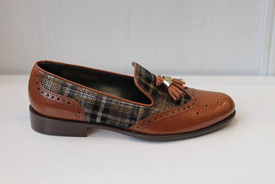 HB, Kasur Cuero, brown slip on shoes