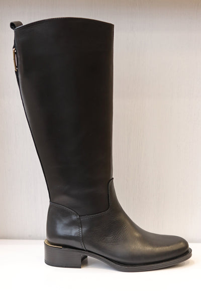 Alpe, Sebino Negro, black leather knee high boot