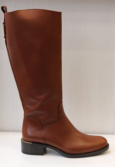 Alpe, Sebino Brandy, brown leather knee high boot