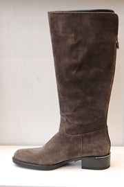 Alpe, baby silk iman, brown suede knee high boot