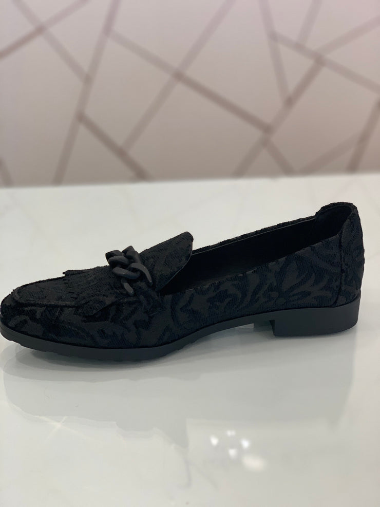 Hengst, black casual patterned shoe